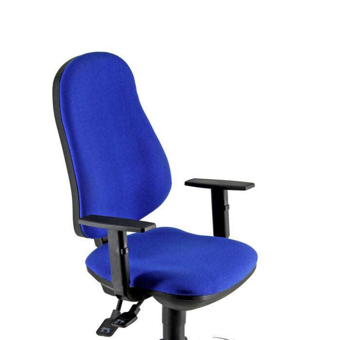 Seduta operativa ergonomica girevole con elevazione a gas e braccioli regolabili in altezza