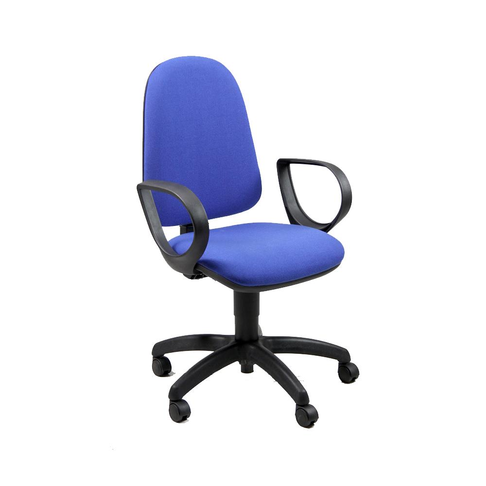 Seduta operativa ergonomica girevole con elevazione a gas e braccioli